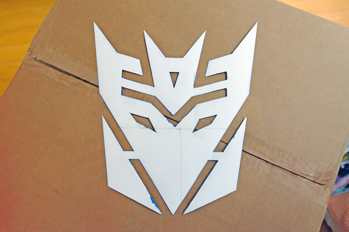 Transformers Spray Paint Stencil