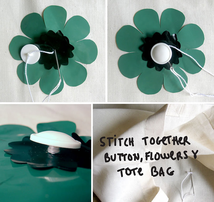 DIY Flower Power Tote Bag