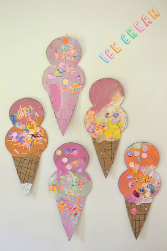 DIY Ice Cream Cone Collage via Art Bar Blog
