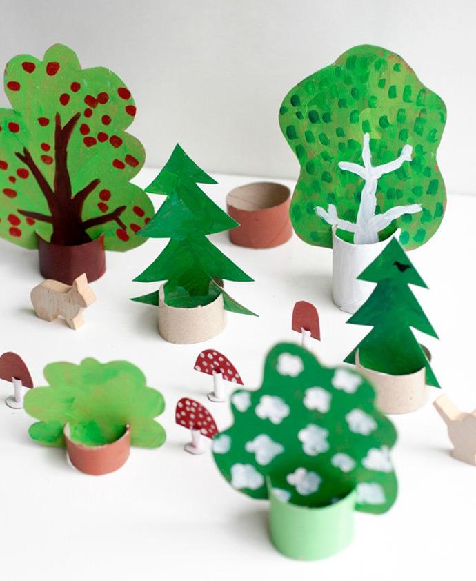 DIY Cardboard Woods via Ukkonooa