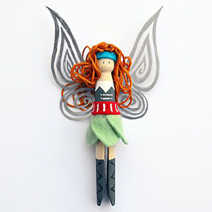 Peg doll pirate fairy via spoonful