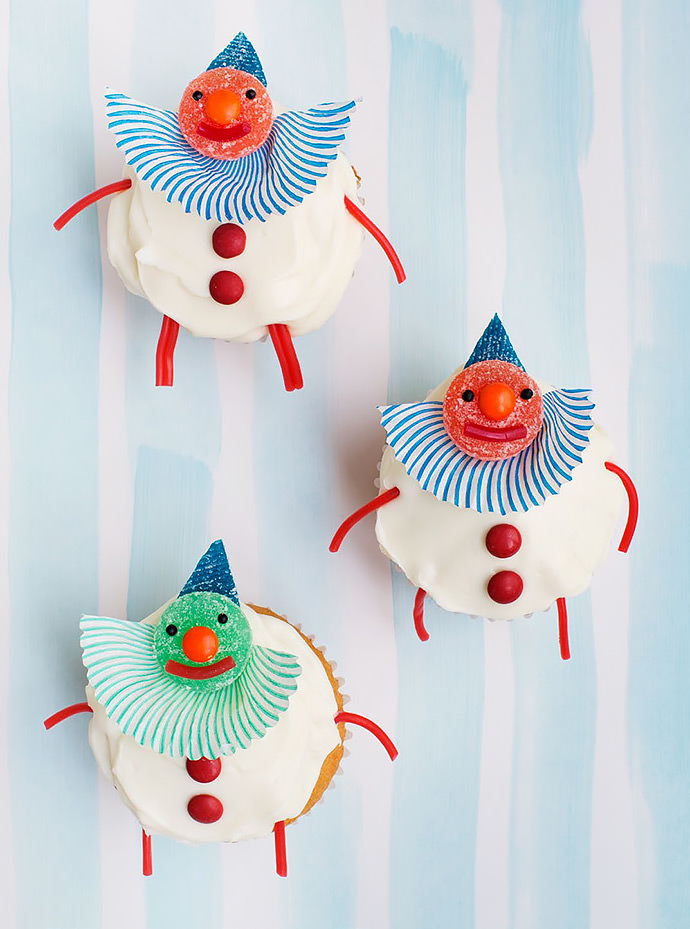 DIY Clown Cupcake Topper