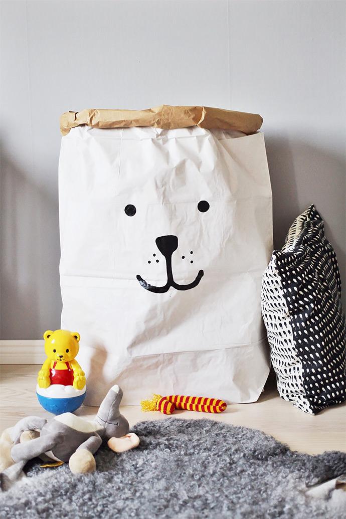Bear Paper Storage Bag by TellKiddo on Etsy