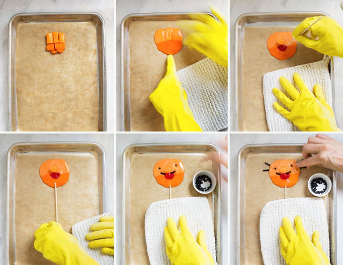 DIY Funny Face Lollipops
