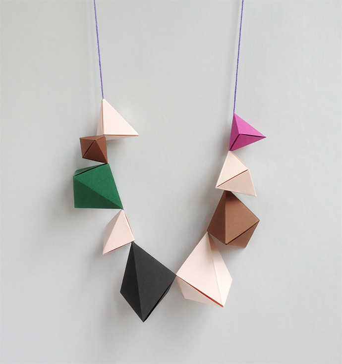 Origami Bipyramid Necklaces by Mr Printables