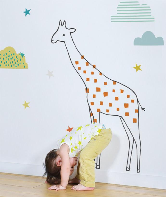 XL Giraffe Wall Decal by Lizzie Mackay for Lilipinso