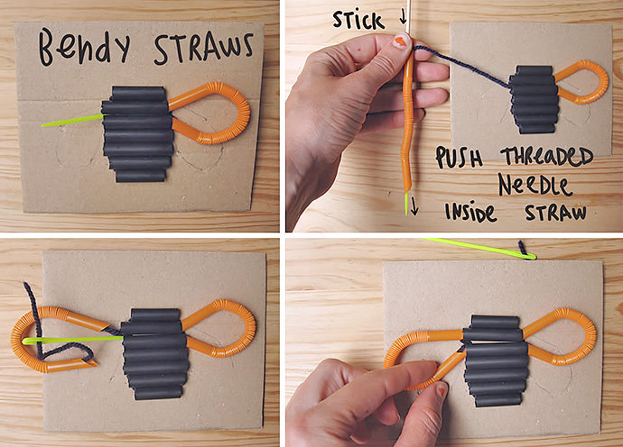 DIY Straw Embroidery For Kids Handmade Charlotte
