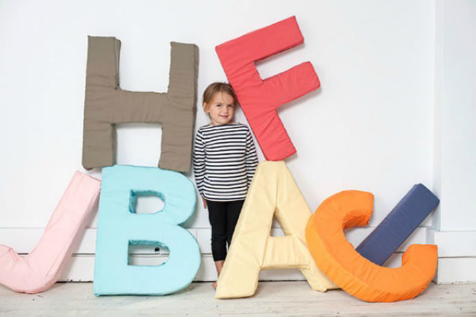 DIY Gian Foam Alphabet Pillows via Oh Happy Day