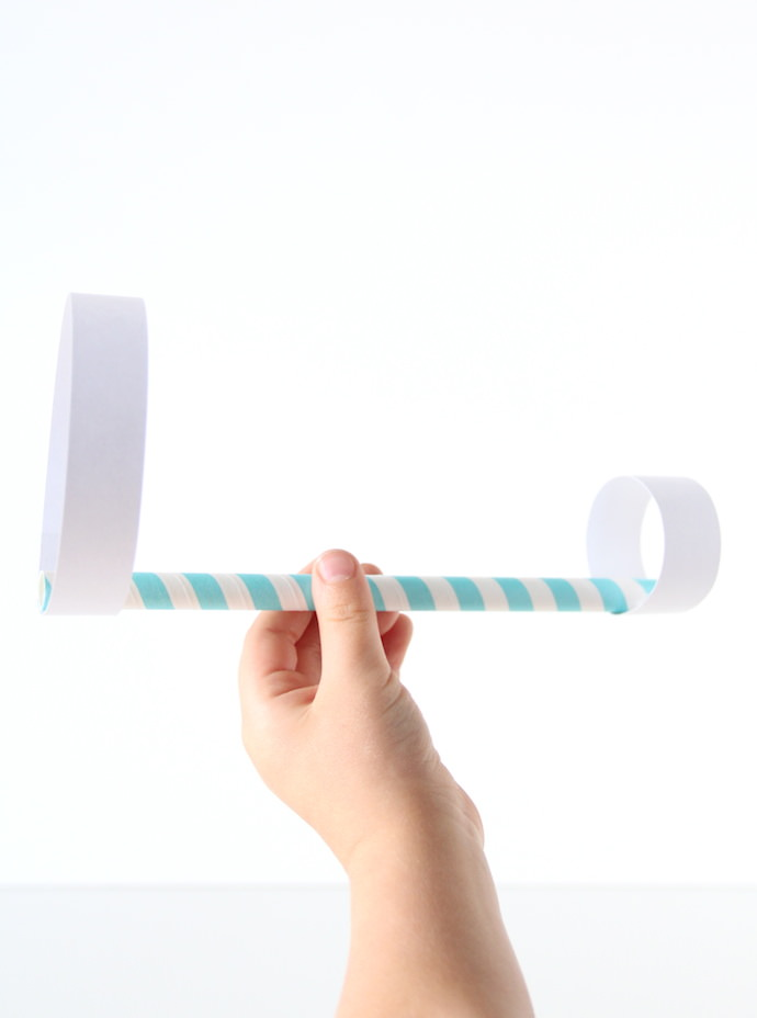 DIY Straw Paper Airplane