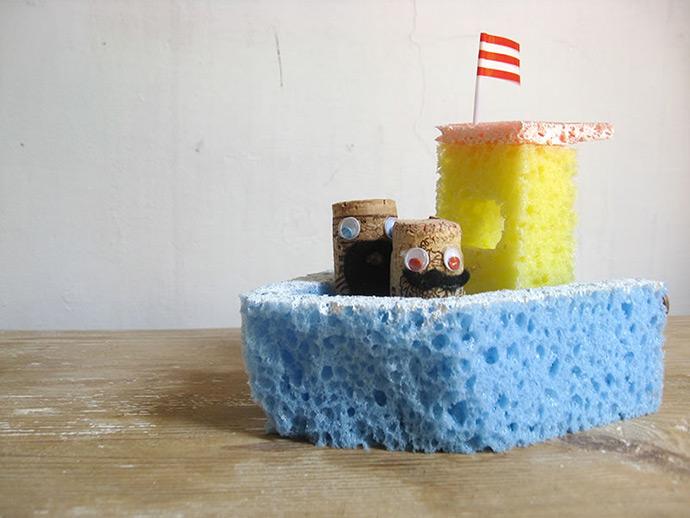 DIY Sponge Bath Baots