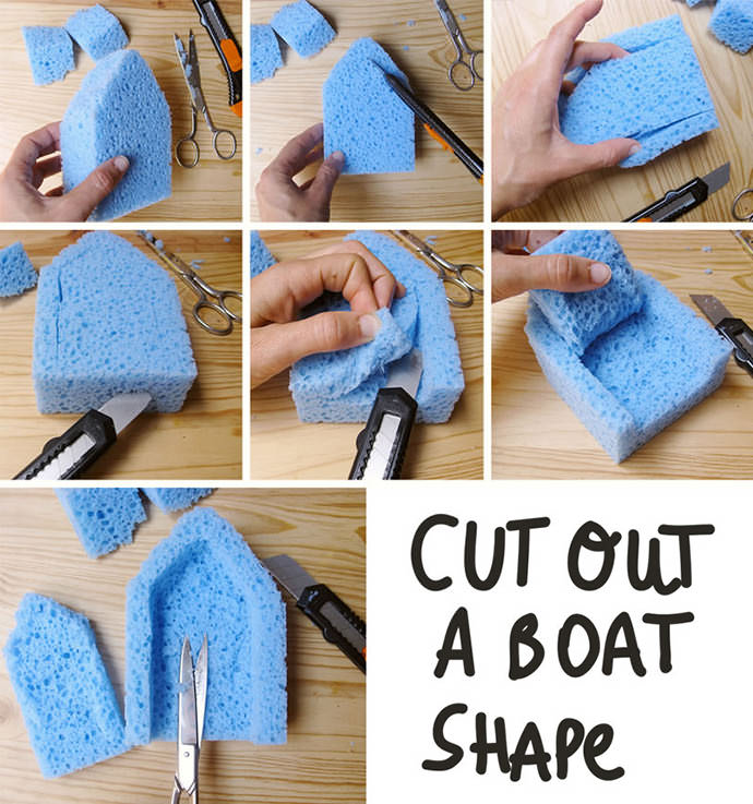 DIY Sponge Bath Boats