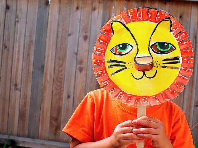 diy paper lion mask handmade charlotte