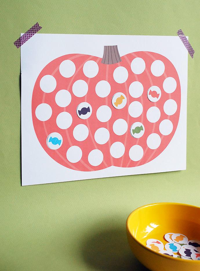 Halloween Countdown Calendar Printable for Kids