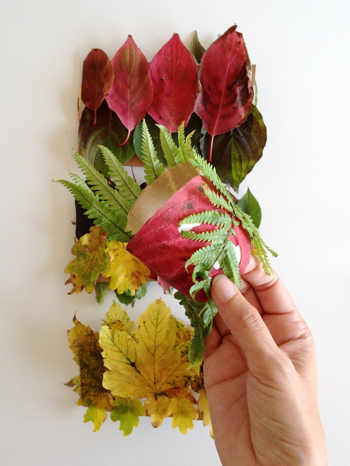 DIY Autumn Leaves Wristband for Kids