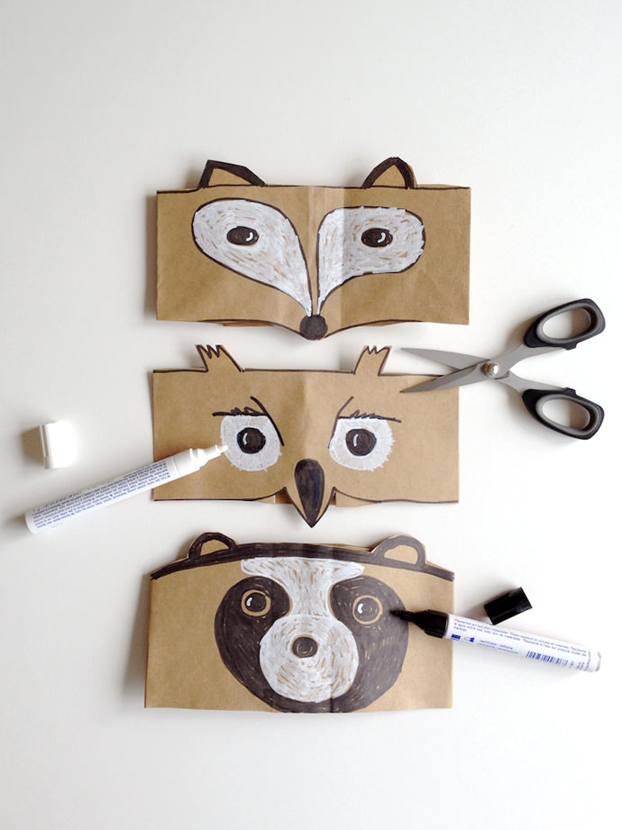 DIY Autumn Animal Masks