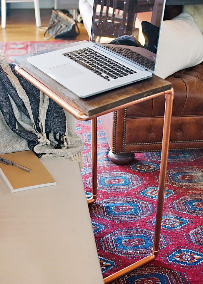DIY Home Decor Project: Copper Laptop Table