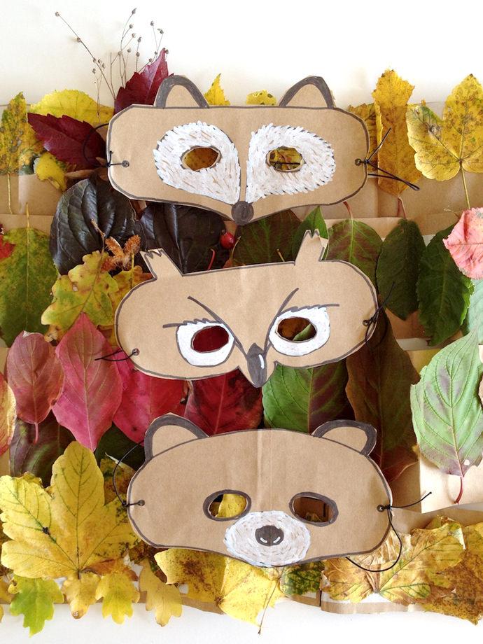 Diy Felt Dog Mask: DIY Leaf Crowns And Animal Masks ⋆ Handmade Charlotte