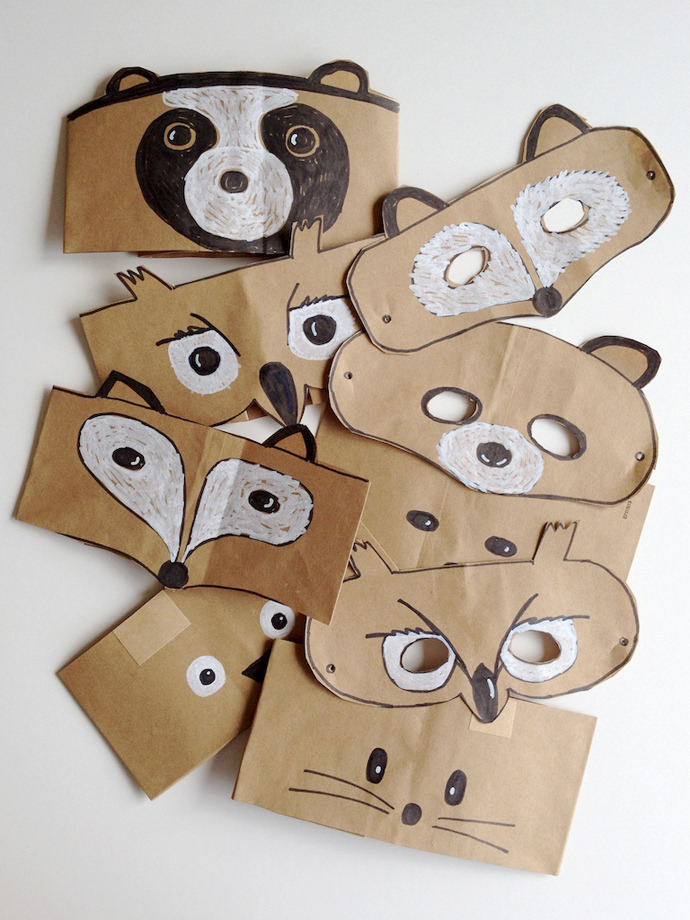 DIY Forest Friends Animal Masks for Kids