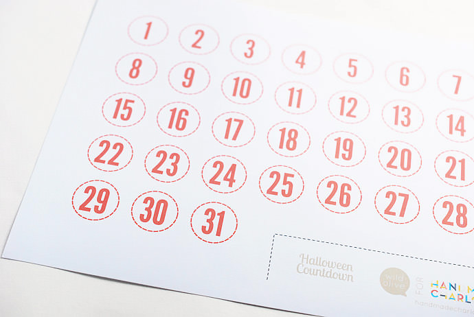 Halloween Countdown Calendar  Handmade Charlotte