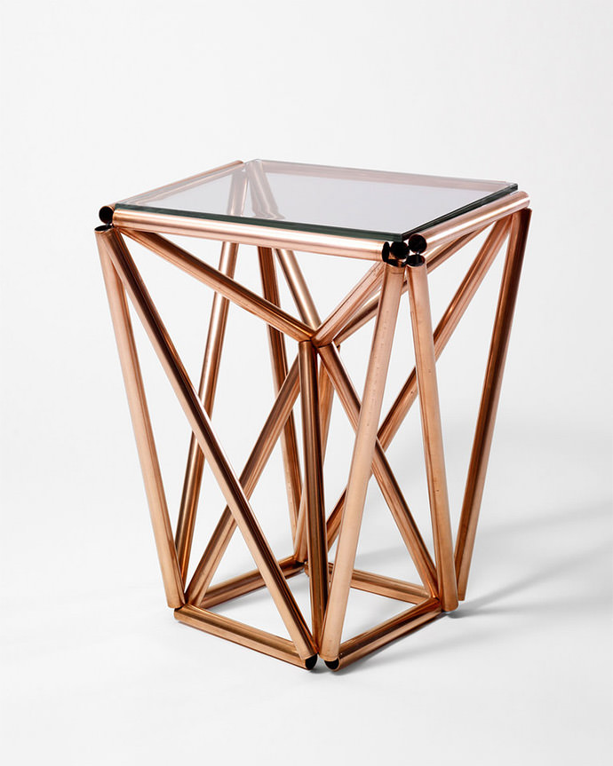 DIY Home Decor Project: Copper Side Table