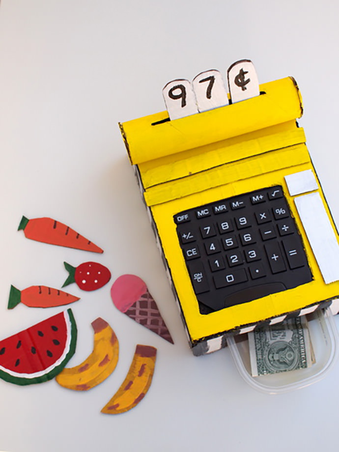 DIY Cardboard Cash Register