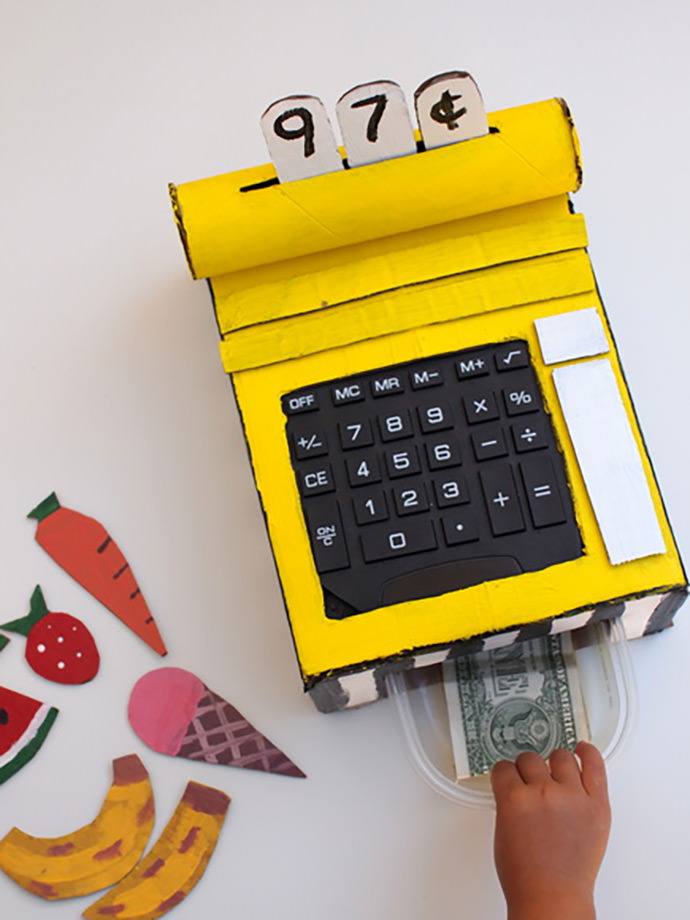DIY Cardboard Cash Register | Handmade Charlotte