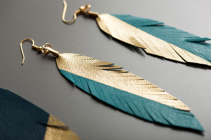 Feather Earrings from Brit + Co