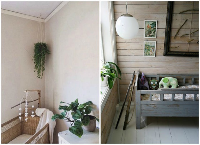 House Plant Decoration from Moon To Moon blog and Dobranoc pohly na noc)