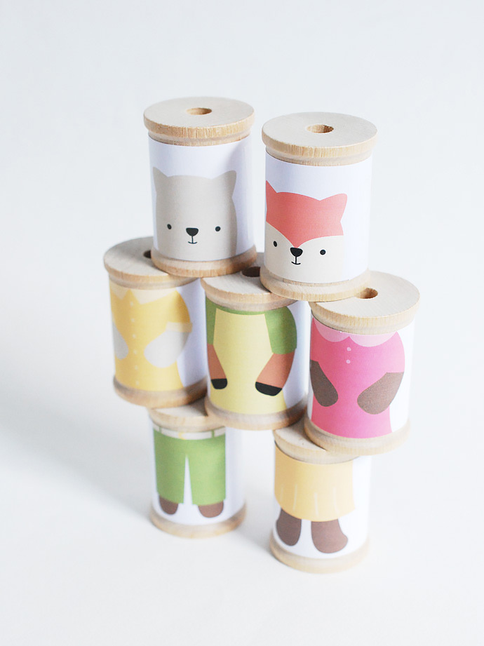 DIY Mix 'Em Up Animal Spools