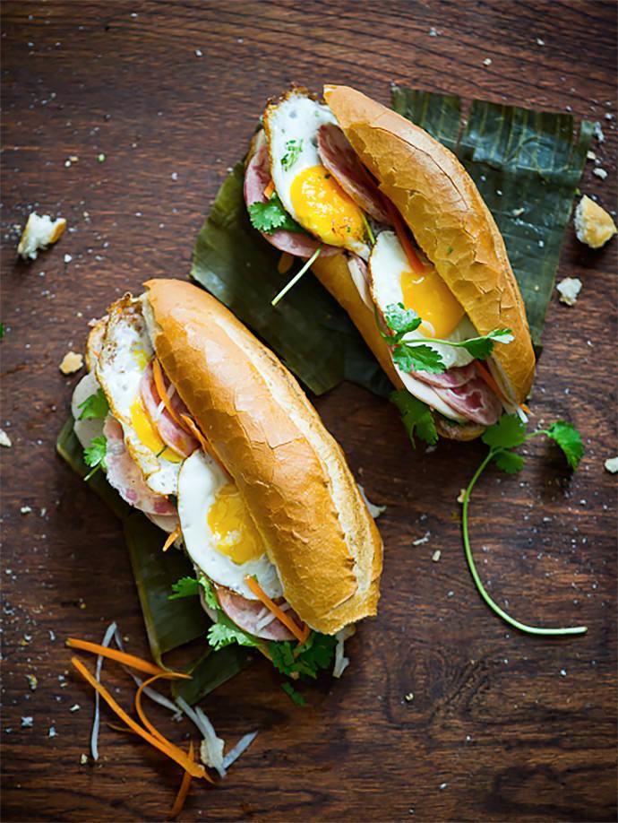 Breakfast Sandwich Recipe: Vietnamese Fried Egg Sandwich (via White On ...
