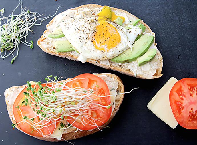 Breakfast Sandwich Recipe: Fried Egg and Avocado Panini (via Made By Girl)