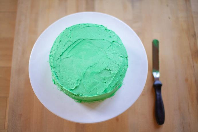 DIY Frog Cake