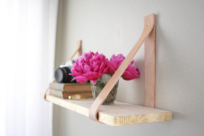 Leather Suspended Shelf from Camille Styles