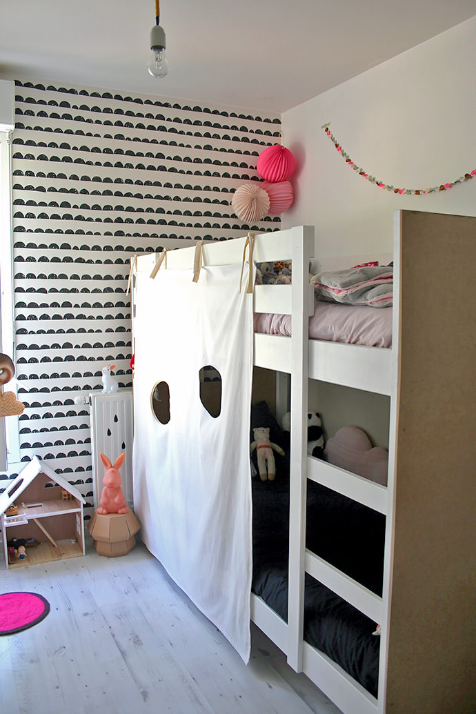 Ikea hack diy bunk bed fort handmade charlotte for Fort bedroom ideas