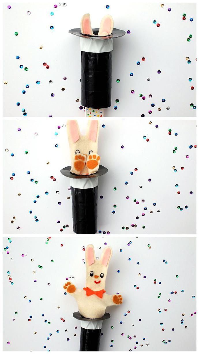 Pop-Up Magic Rabbit Puppet