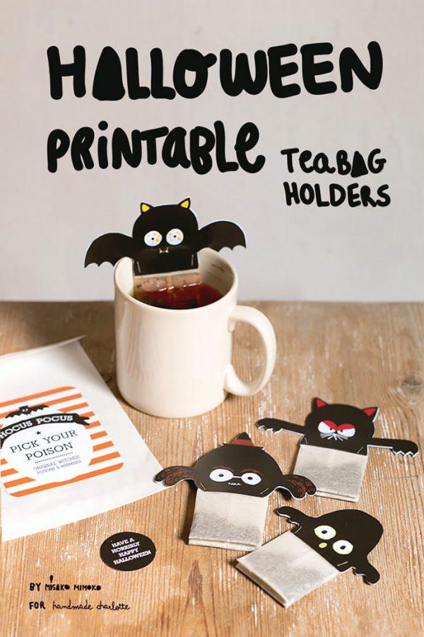 Spooky Halloween Tea Bag Printables