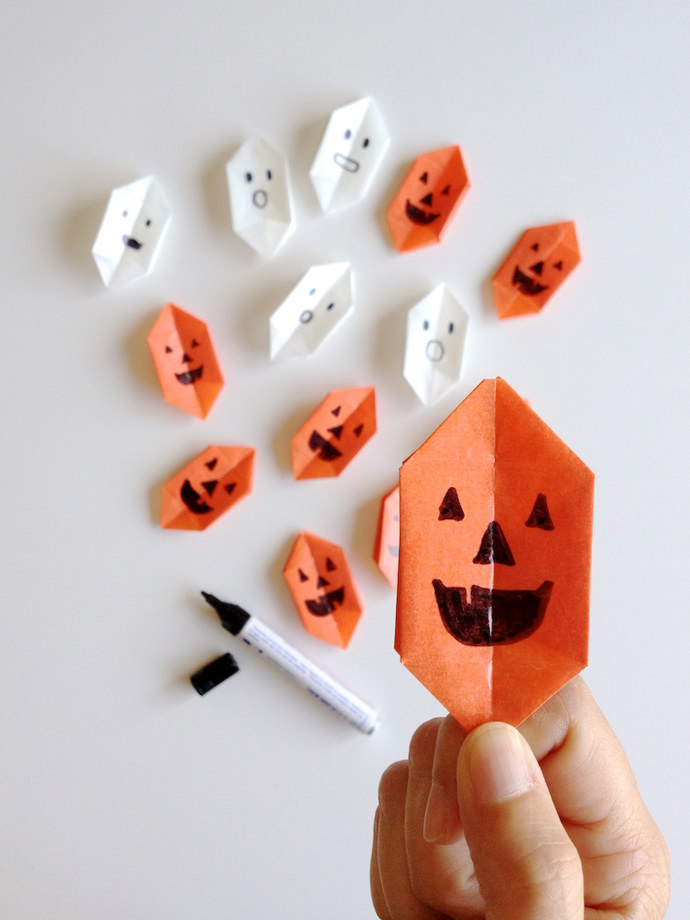 DIY Origami Halloween Lights