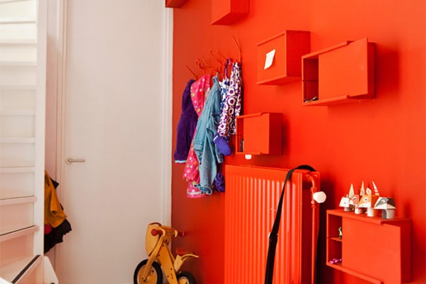 Liven up family spaces with a coat of tangerine tango!