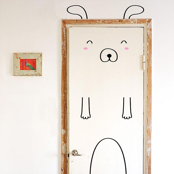 Simon The Sunny Dog Door Decal (via Made of Sundays on Etsy)