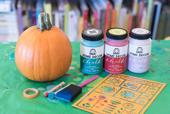 DIY Chalk Paint Mini Pumpkins