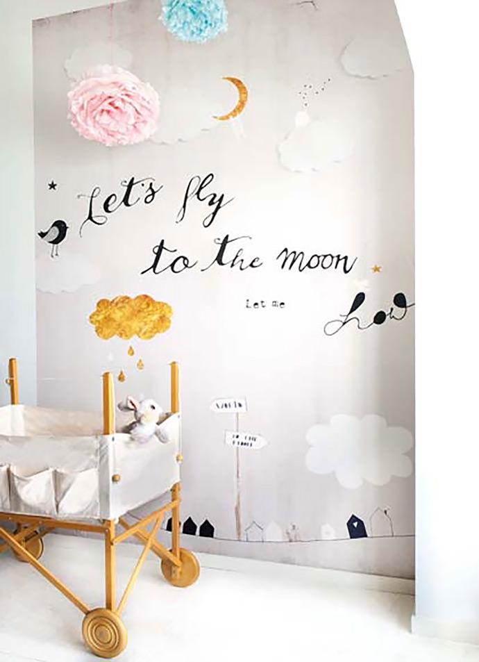 Playful nursery wallpaper by Oneszelf