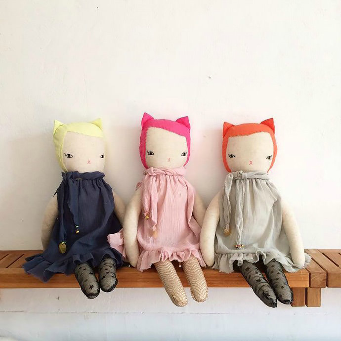 Perfect for the dark winter months, neon nina dolls by Boramiri