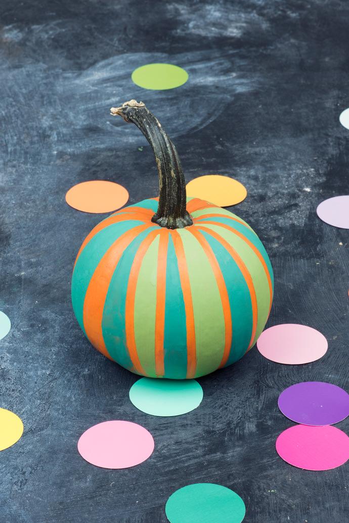 DIY Chalk Paint Mini Pumpkin