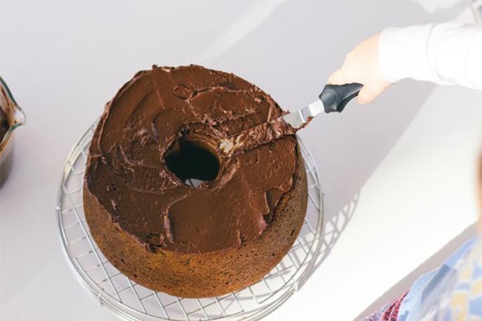 Recipe: Pumpkin Pound Cake with Sour Cream Ganache