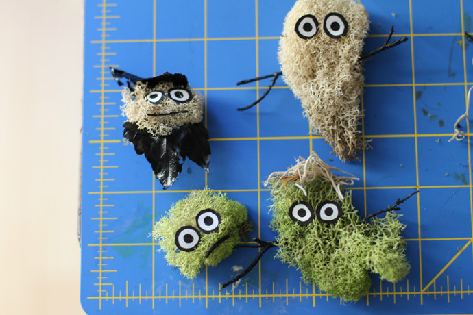 DIY  Spooky Terrarium with Monster Moss Creatures!