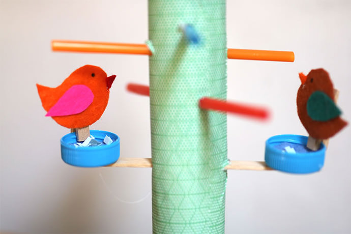 DIY Bird Feeder Play Set