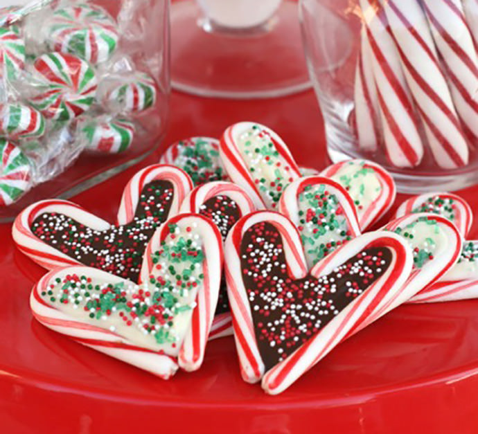 Chocolate-Filled Candy Cane Cookies Recipe