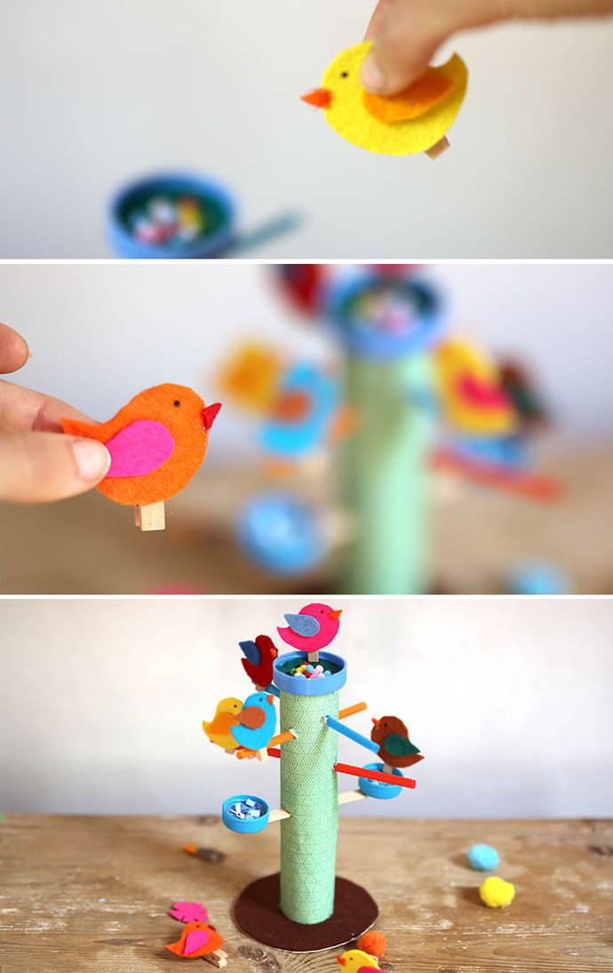 DIY Bird Feeder Play Set