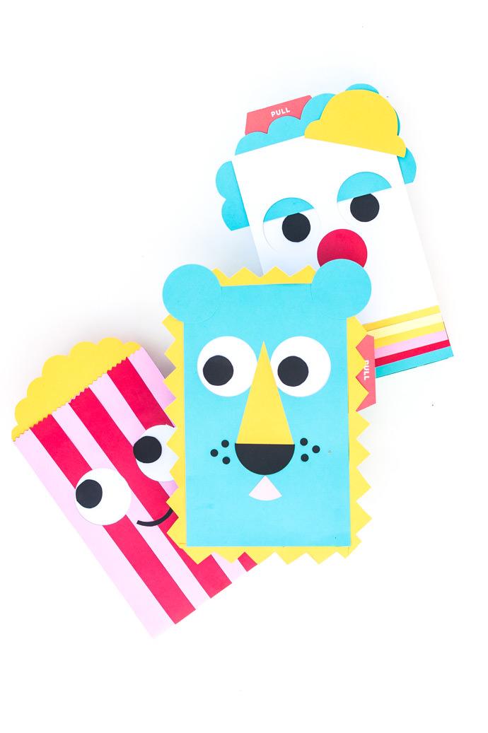 DIY Pull Tab Circus Gift Wrap