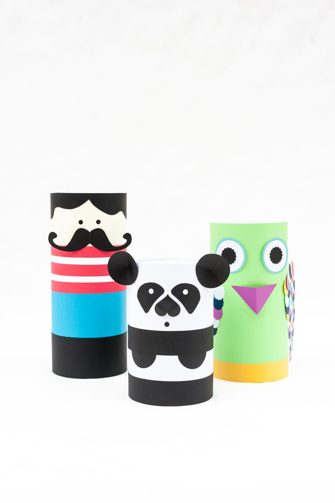 DIY Recycled Mailing Tube Gift Boxes (double as super fun piggy banks!)